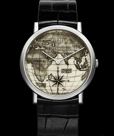 Replica Piaget Altiplano Scrimshaw 38 mm Watch G0A39150 White Gold - Scrimshaw Engraved Ivory Dial