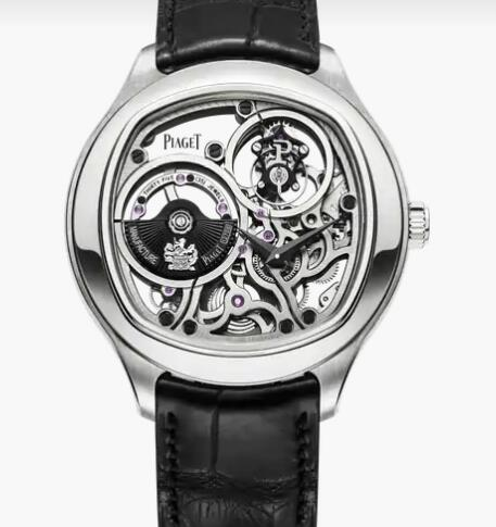 Replica Piaget Emperador Tourbillon Men Luxury Skeleton Watch Piaget White Gold Watch G0A40041