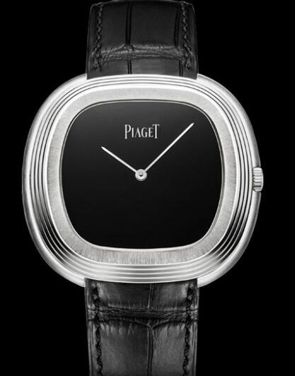 Replica Piaget Black Tie inspiration vintage Watch G0A40236 White Gold - Onyx Dial - Black Alligator Strap