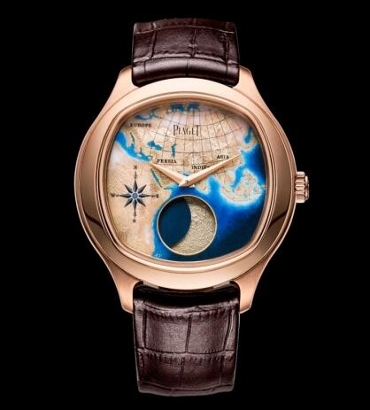 Replica Piaget Emperador Coussin Moonphase Mythical Journey Samarkand Watch G0A40560
