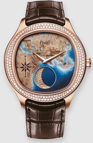 Piaget Emperador Coussin Moonphase Mythical Journey Diamond Replica Watch G0A40561