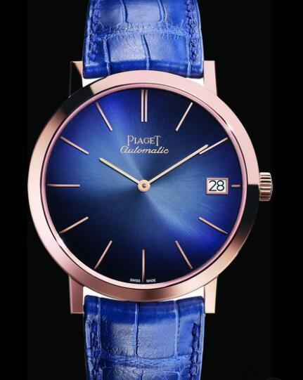 Replica Piaget Altiplano 60th Anniversary Collection (40 mm) Watch G0A42051 Ultra-Thin Watch - Gold Pink - Strap Alligator
