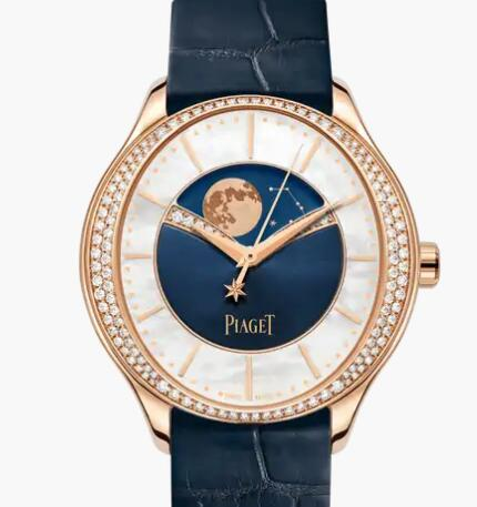 Replica Piaget Limelight Stella Rose gold Diamond Automatic Moon Phase Watch G0A44123 Piaget Luxury Watch