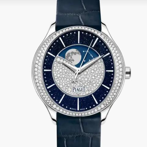 Replica Piaget Limelight Stella White gold Diamond Automatic moon phase Watch G0A44124 Piaget Luxury Watch