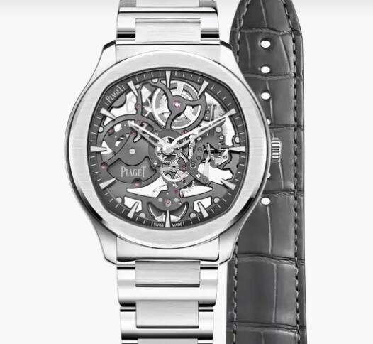 Replica Piaget Polo Steel Automatic Skeleton Watch Piaget Skeleton Men Luxury Watch G0A45001