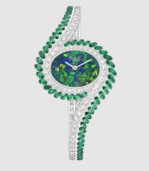 Replica Piaget Limelight Gala Watch White Gold Emerald Diamond Watch - Piaget Luxury Watch G0A46172