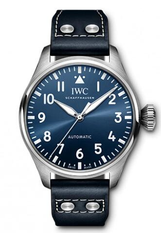 Replica IWC Big Pilot 43 Stainless Steel Blue IW329303 Watch