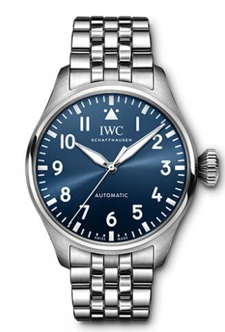 Replica IWC Big Pilot 43 Stainless Steel Blue Bracelet IW329304 Watch