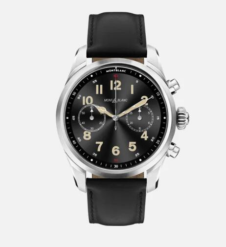 Montblanc Summit 2+ Stainless Steel and Leather Replica Watch MB127648