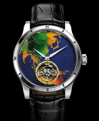 Replica Jaeger Lecoultre Master Grand Tourbillon Continents Asia Q1656452 Platinum Watch