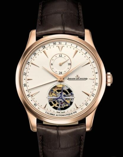 Replica Jaeger Lecoultre Master Grande Tradition à Tourbillon 43 Q1662510 Pink Gold - Alligator Bracelet Watch