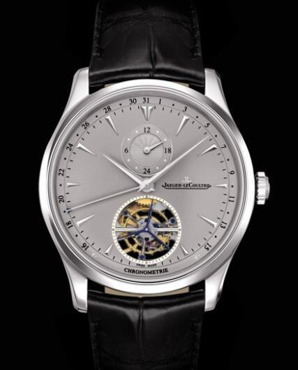 Replica Jaeger Lecoultre Master Grande Tradition à Tourbillon 43 Q1666520 Platinum - Aliigator Strap Watch