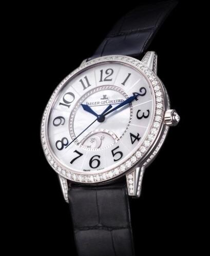 Jaeger-Lecoultre Rendez-Vous Night & Day Replica Watch Q3433491 White Gold - Diamonds - Alligator Strap - 36mm