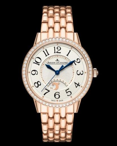 Jaeger-Lecoultre Rendez-Vous Night & Day Replica Watch Q3442120 Pink Gold - Diamonds - 34mm