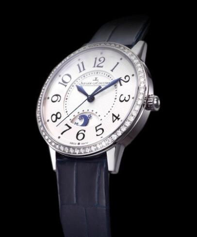 Jaeger-Lecoultre Rendez-Vous Night & Day Replica Watch Q3448420 Steel - Diamonds - Alligator Strap - 34mm