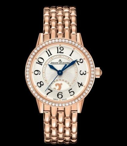 Jaeger-Lecoultre Rendez-Vous Night & Day Replica Watch Q3462121 Pink Gold - Diamonds - 29mm