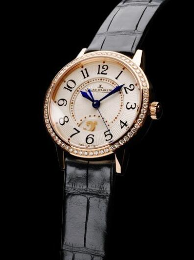 Jaeger-Lecoultre Rendez-Vous Night & Day Replica Watch Q3462521 Pink Gold - Diamonds - Alligator Strap - 29mm