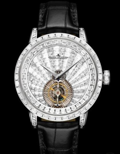 Jaeger Lecoultre Master Grande Tradition Tourbillon Orbital Replica Watch Q5073402 White Gold - Diamonds - Alligator Strap