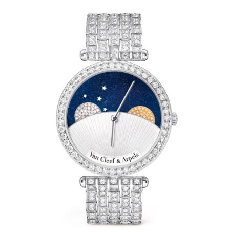 Replica Van Cleef & Arpels Lady Arpels Day and Night Watch VCARN9VL00