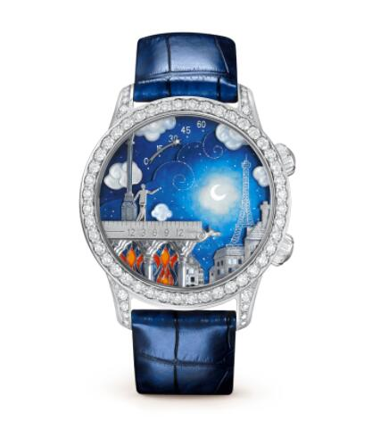 Replica Van Cleef & Arpels Midnight Poetic Wish Watch VCARO30M00