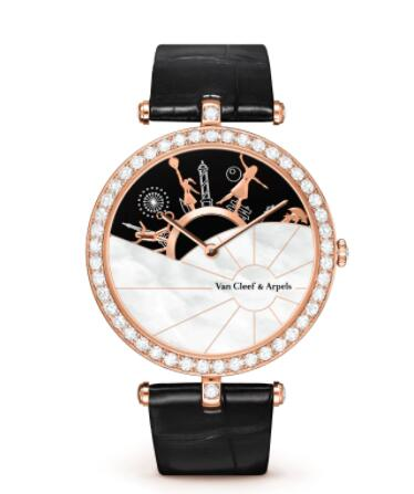 Replica Van Cleef & Arpels Lady Arpels A Day in Paris Watch VCARO3ZA00