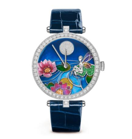 Replica Van Cleef & Arpels Lady Arpels Day and Night Fée Ondine Watch VCARO8O400