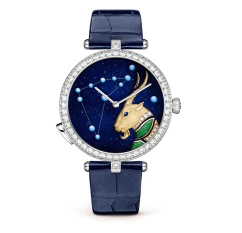 Replica Van Cleef & Arpels Lady Arpels Zodiac Lumineux Capricorn watch VCARO8TO00