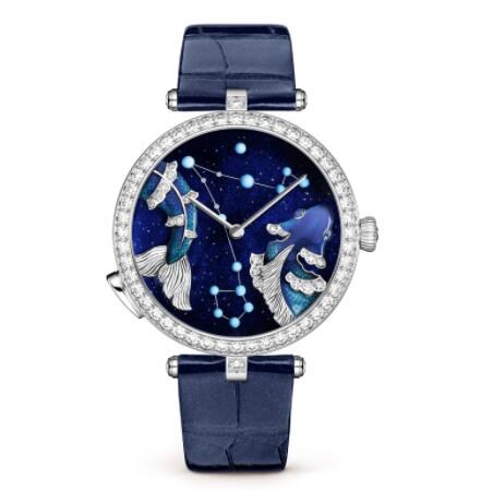 Replica Van Cleef & Arpels Lady Arpels Zodiac Lumineux Pisces watch VCARO8TR00