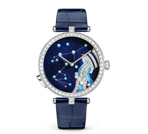 Replica Van Cleef & Arpels Lady Arpels Zodiac Lumineux Aquarius watch VCARO8TV00