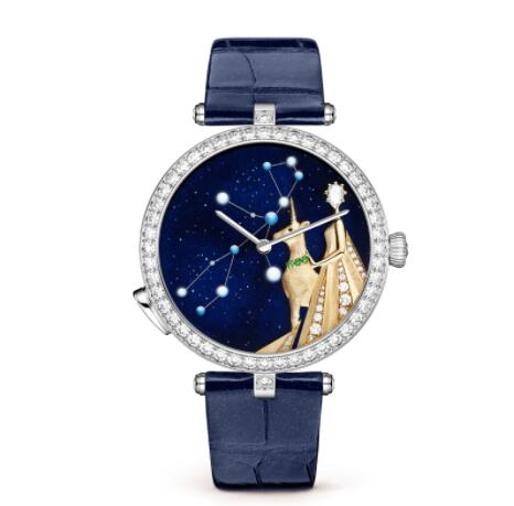 Replica Van Cleef & Arpels Lady Arpels Zodiac Lumineux Virgo watch VCARO8TW00