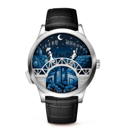 Replica Van Cleef & Arpels Midnight Pont des Amoureux watch VCARO90000
